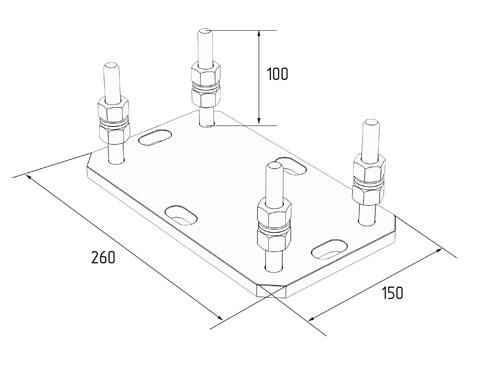 Подставка регулируемая роликовой опоры для балок